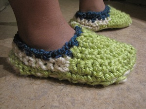 Crocheted Slippers 11.22.2012 #2