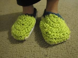 Crocheted Slippers 11.22.2012