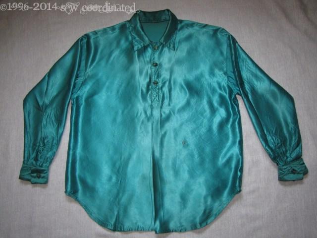 Teal Satin Mens Shirt (2)