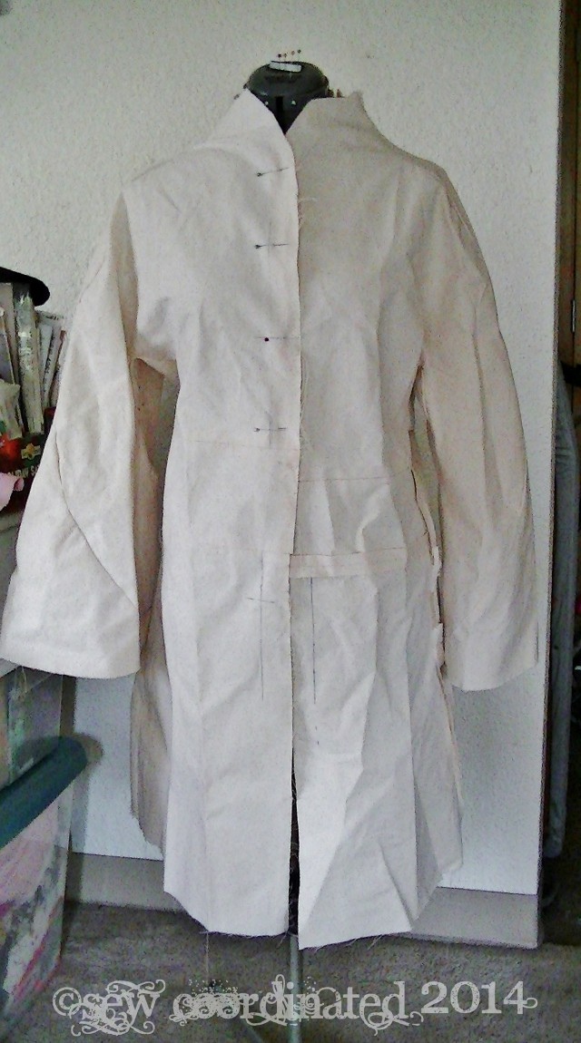 Altered first muslin with  sleeve on FBA.  It didn't fit right for reasons explained in the article.