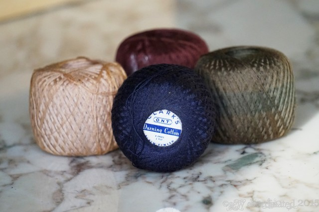 Old time darning cotton