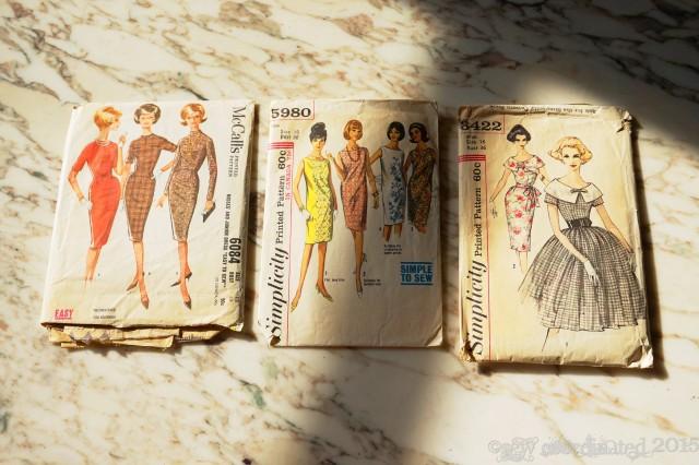 A trio of vintage patterns