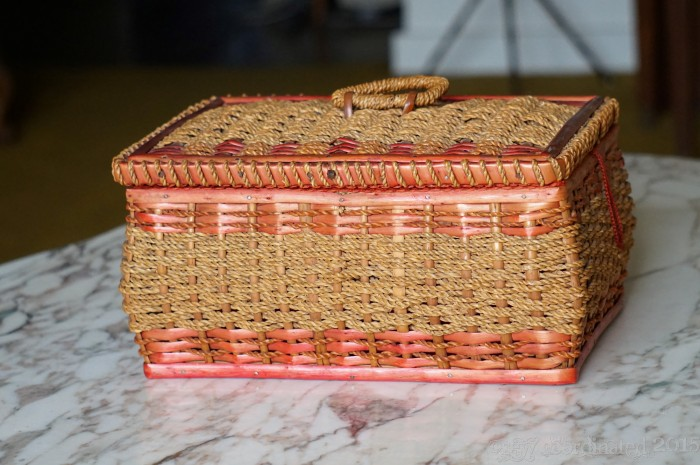 Wicker Sewing Box