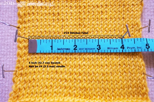 There's now an extra stitch and a half over the needed gauge.