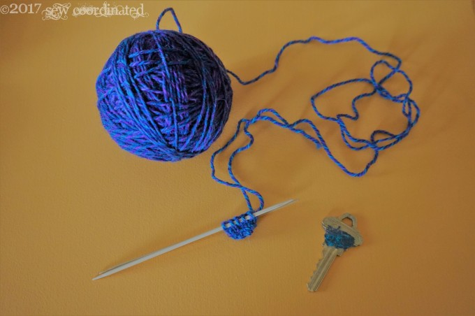 Key with knitting